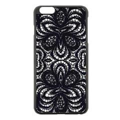 Twisted Zebra  Apple Iphone 6 Plus Black Enamel Case by OCDesignss