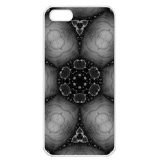 Black Marshmallow  Apple Iphone 5 Seamless Case (white) by OCDesignss