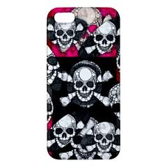 Metal Bling Skulls  Iphone 5s Premium Hardshell Case by OCDesignss