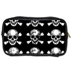 Skull Bling Travel Toiletry Bag (one Side) by OCDesignss