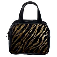 Gold Zebra  Classic Handbag (one Side) by OCDesignss
