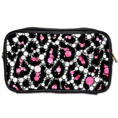 Pink Cheetah Bling Travel Toiletry Bag (Two Sides) by OCDesignss