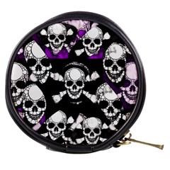 Purple Haze Skull And Crossbones  Mini Makeup Case by OCDesignss