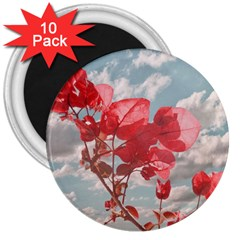 Flowers In The Sky 3  Button Magnet (10 Pack) by dflcprints