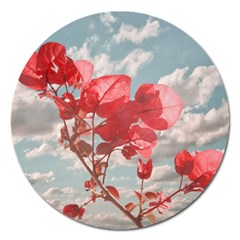 Flowers In The Sky Magnet 5  (round) by dflcprints