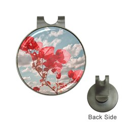 Flowers In The Sky Hat Clip With Golf Ball Marker by dflcprints