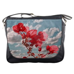 Flowers In The Sky Messenger Bag by dflcprints