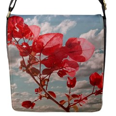 Flowers In The Sky Flap Closure Messenger Bag (small) by dflcprints
