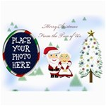 Mr&Mrs Claus Christmas Card 5 x7  - 5  x 7  Photo Cards