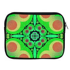 Neon Green  Apple Ipad Zippered Sleeve by OCDesignss