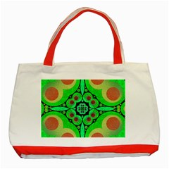 Neon Green  Classic Tote Bag (red) by OCDesignss