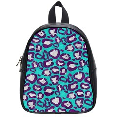 Turquoise Cheetah School Bag (small) by OCDesignss