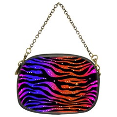Rainbow Zebra  Chain Purse (two Sided)  by OCDesignss
