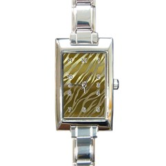 Metal Gold Zebra  Rectangular Italian Charm Watch by OCDesignss