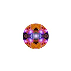 Abstract Flower 1  Mini Button Magnet by icarusismartdesigns