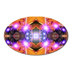 Abstract Flower Magnet (oval) by icarusismartdesigns