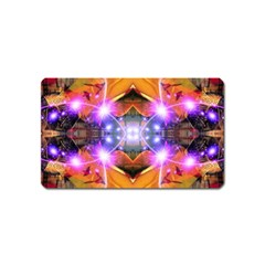 Abstract Flower Magnet (name Card) by icarusismartdesigns