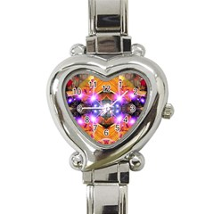 Abstract Flower Heart Italian Charm Watch  by icarusismartdesigns