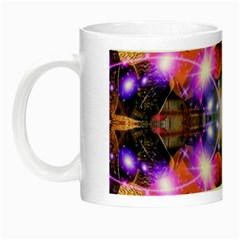 Abstract Flower Glow in the Dark Mug by icarusismartdesigns