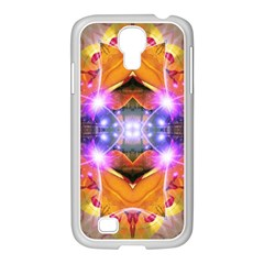 Abstract Flower Samsung Galaxy S4 I9500/ I9505 Case (white) by icarusismartdesigns