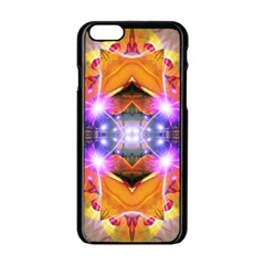 Abstract Flower Apple Iphone 6 Black Enamel Case by icarusismartdesigns