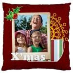christmas - Large Flano Cushion Case (One Side)
