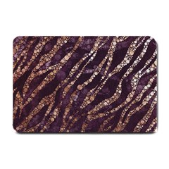 Lavender Gold Zebra  Small Door Mat by OCDesignss