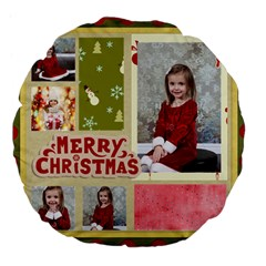 Xmas By Xmas   Large 18  Premium Flano Round Cushion    Vp9e8ikqtw1f   Www Artscow Com Front