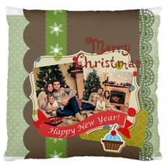 Xmas By Xmas   Large Flano Cushion Case (two Sides)   0pp8ujdyw36f   Www Artscow Com Front