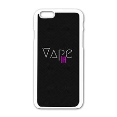 Vape Life Black Apple Iphone 6 White Enamel Case by OCDesignss