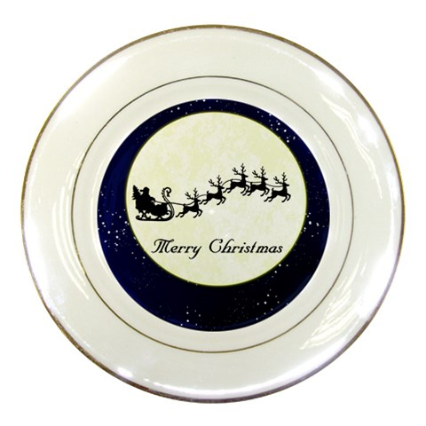 Christmas Plate By Melinda Bow   Porcelain Plate   Reuykypi5eio   Www Artscow Com Front