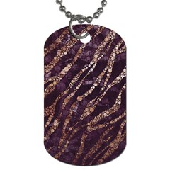 Lavender Gold Zebra  Dog Tag (one Sided) by OCDesignss