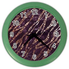 Lavender Gold Zebra  Wall Clock (color) by OCDesignss