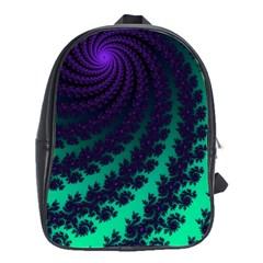 Sssssssfractal School Bag (large) by urockshop
