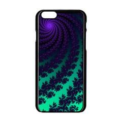 Sssssssfractal Apple Iphone 6 Black Enamel Case by urockshop