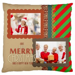 Xmas By Xmas   Large Flano Cushion Case (two Sides)   Iscboag0xszw   Www Artscow Com Front