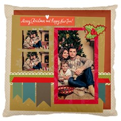 Xmas By Xmas   Large Flano Cushion Case (two Sides)   9jvx27m0efd4   Www Artscow Com Front