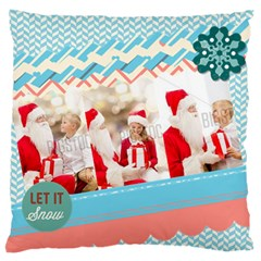 Xmas By Xmas   Large Flano Cushion Case (two Sides)   Yknu3d6fgp0u   Www Artscow Com Front