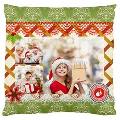 Xmas By Xmas   Large Flano Cushion Case (two Sides)   Qx7oaztqinpn   Www Artscow Com Back