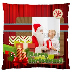 Xmas By Xmas   Large Flano Cushion Case (two Sides)   6ktsuwkxcpzs   Www Artscow Com Front