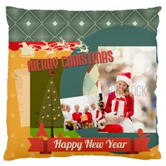 Xmas By Xmas   Large Flano Cushion Case (two Sides)   F04an7v7ft0s   Www Artscow Com Front