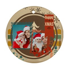 Xmas By Xmas   Round Ornament (two Sides)   X44j4fnqvgpr   Www Artscow Com Front