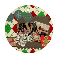 Xmas By Xmas   Round Ornament (two Sides)   Wm16yhepiblr   Www Artscow Com Front