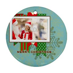 Xmas By Xmas   Round Ornament (two Sides)   D116meztuwny   Www Artscow Com Front