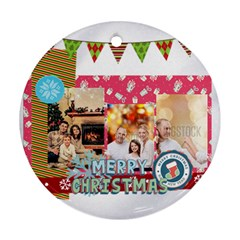 Xmas By Xmas   Round Ornament (two Sides)   Vjylt79mo01p   Www Artscow Com Front