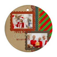 Xmas By Xmas   Round Ornament (two Sides)   10h4464weml7   Www Artscow Com Back