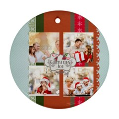 Xmas By Xmas   Round Ornament (two Sides)   Ldwk4954axfg   Www Artscow Com Back