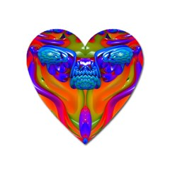 Lava Creature Magnet (heart) by icarusismartdesigns