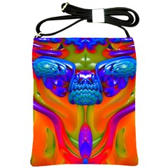 Lava Creature Shoulder Sling Bag by icarusismartdesigns