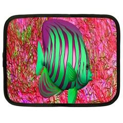 Fish Netbook Sleeve (large) by icarusismartdesigns